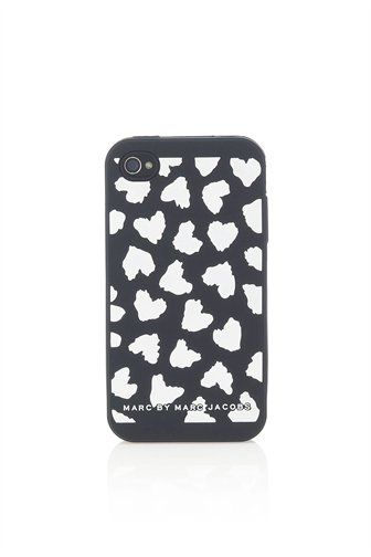 iPhone case with all over hearts print.100% Silicone