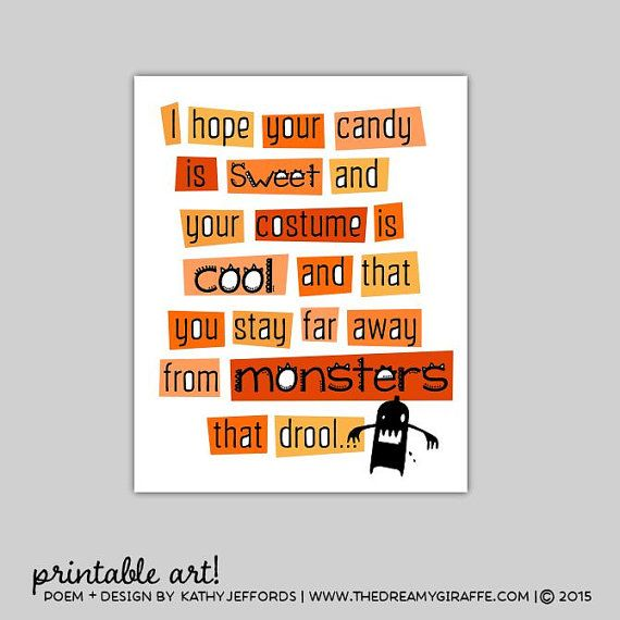 Halloween Quotes For Kids.Funny Halloween Quote Kids Printable Halloween Door Decor Cute