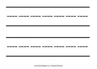 Extra Large Handwriting Lines Printable