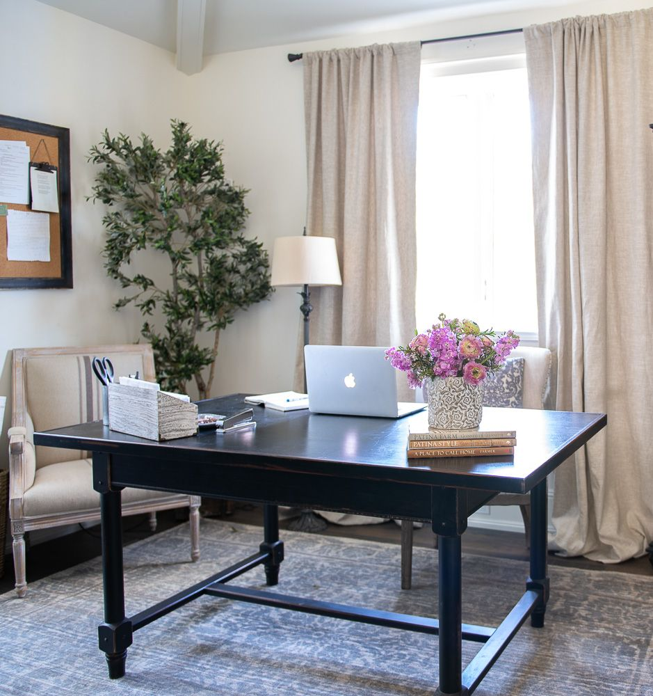 My Home Office Makeover Reveal Sanctuary Home Decor Black Office Furniture Home Office Furniture Office