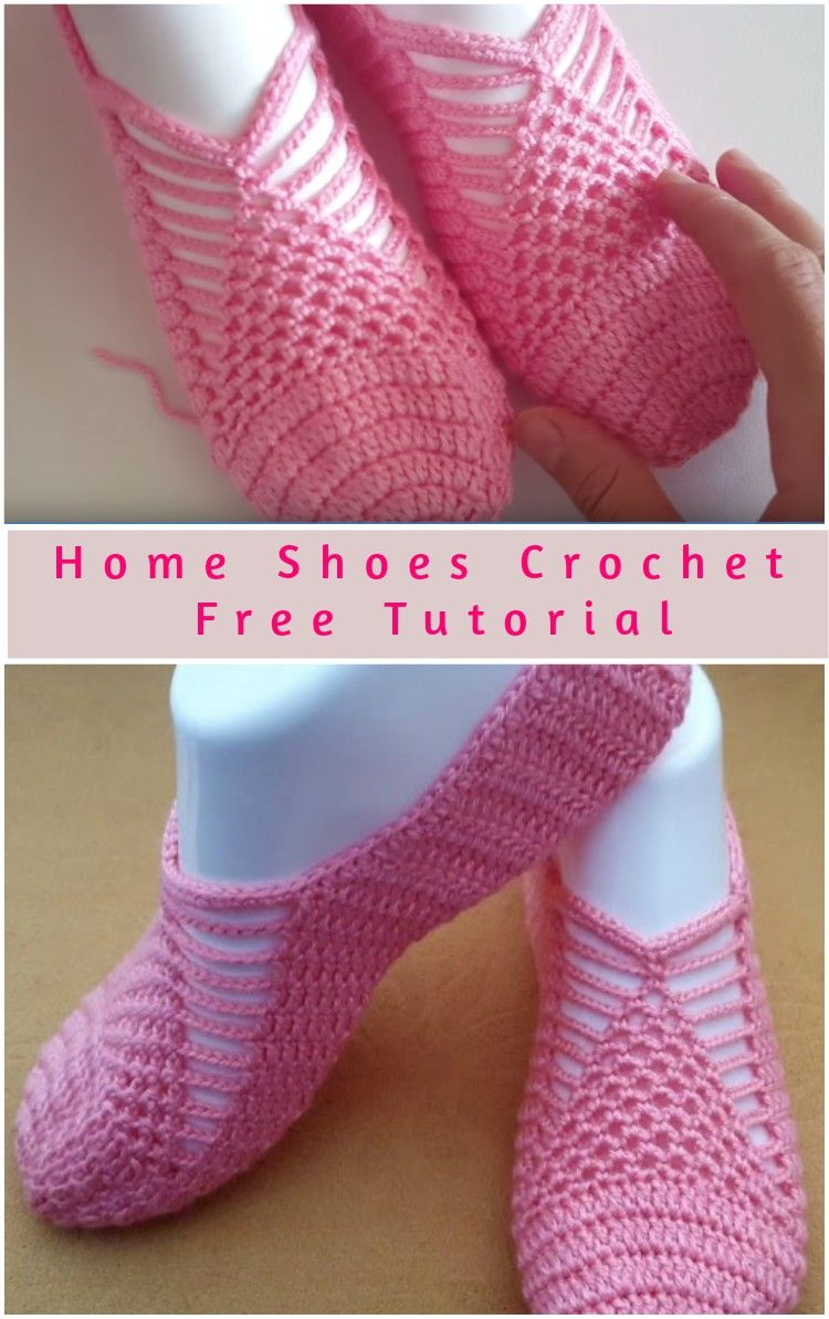 Home Slipper Shoes Free Crochet Tutorial   Crochet, Tutorials and ...