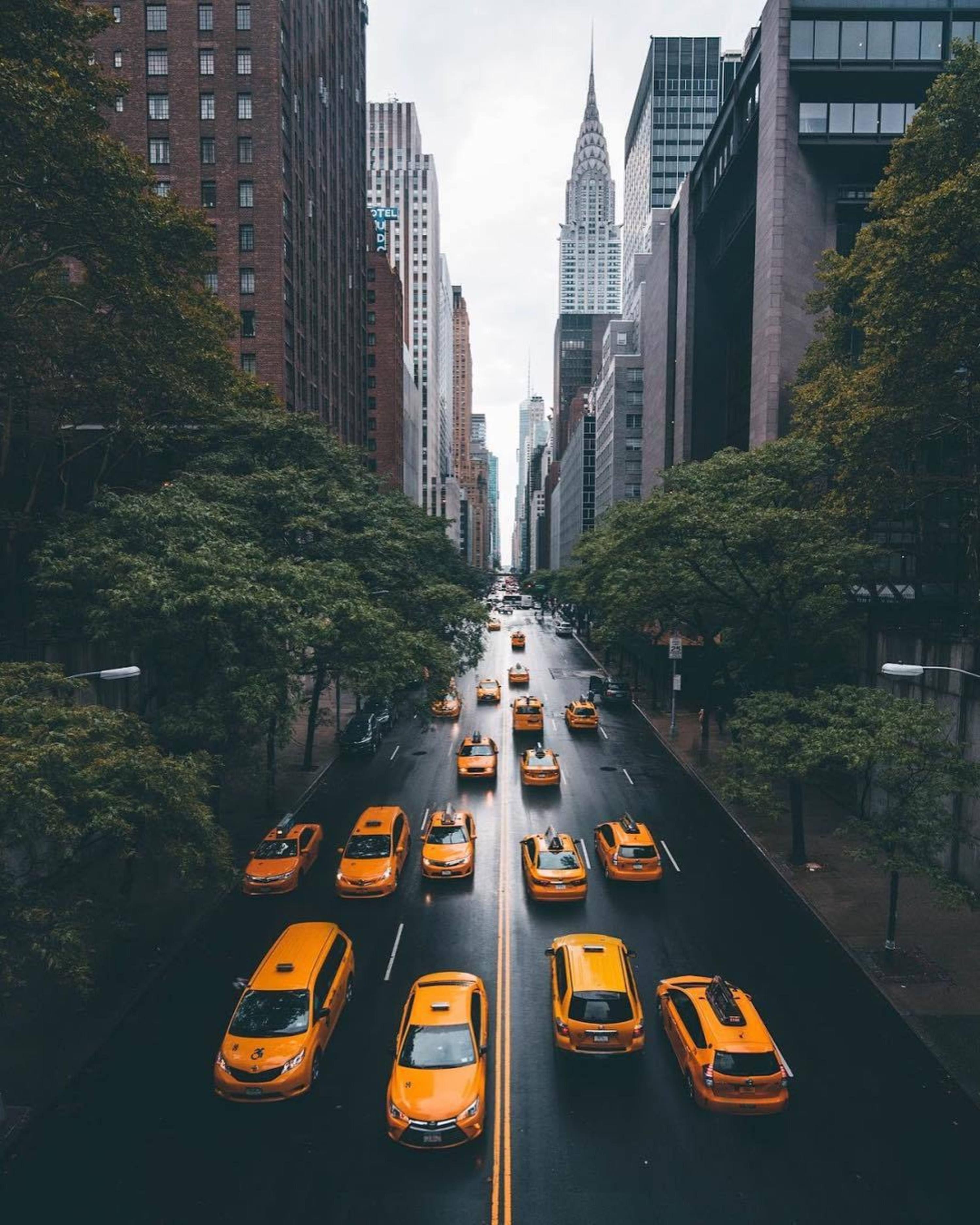 42nd Street From Tudor City Overpass Midtown Manhattan New York Travel New York Taxi New York City