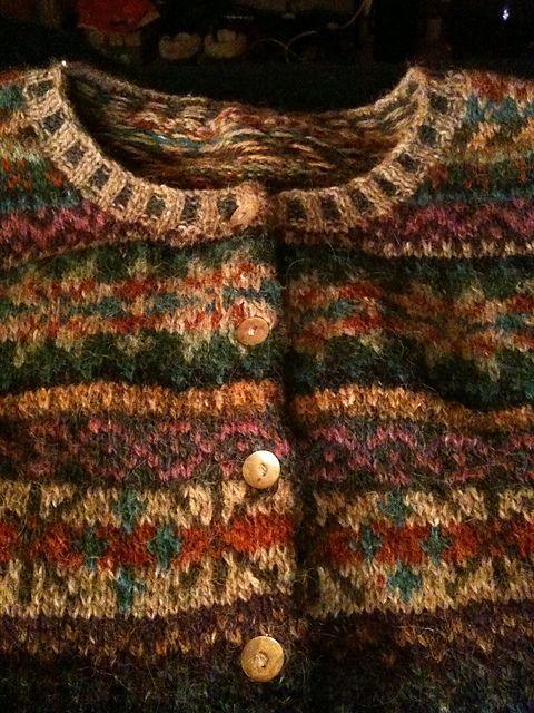 textile : cardigan, tricot, motifs jacquard, automnal | un Automne à ...