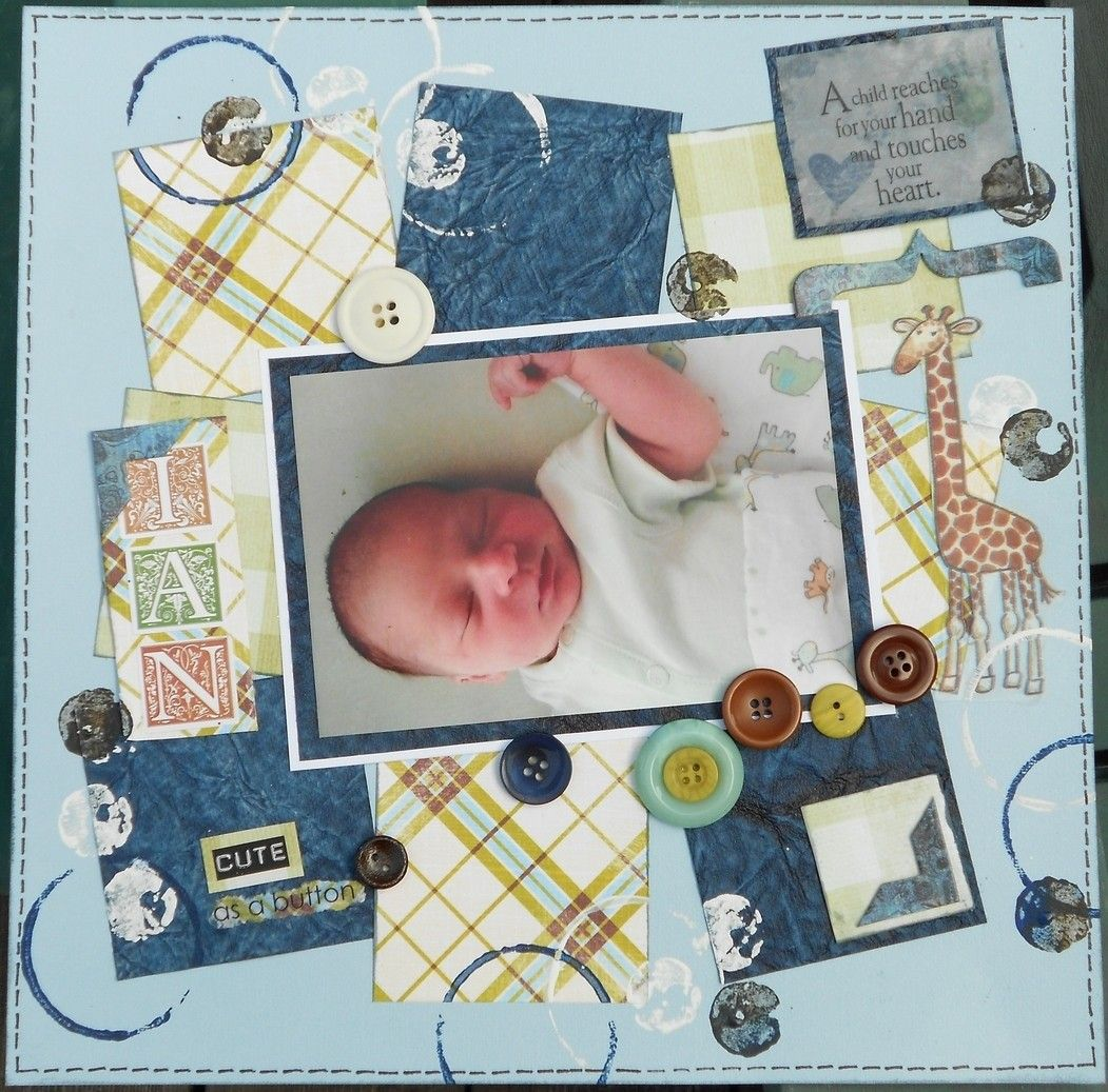 Scrapbook ideas layouts free - Free Scrapbook Layouts For New Baby Layout I Did For A Co Worker Who