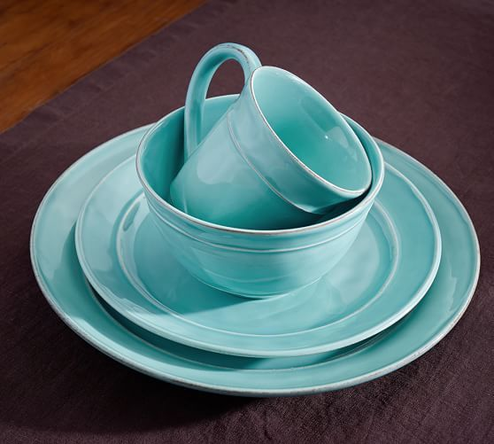 Cambria Dinnerware - Turquoise Blue | Pottery Barn