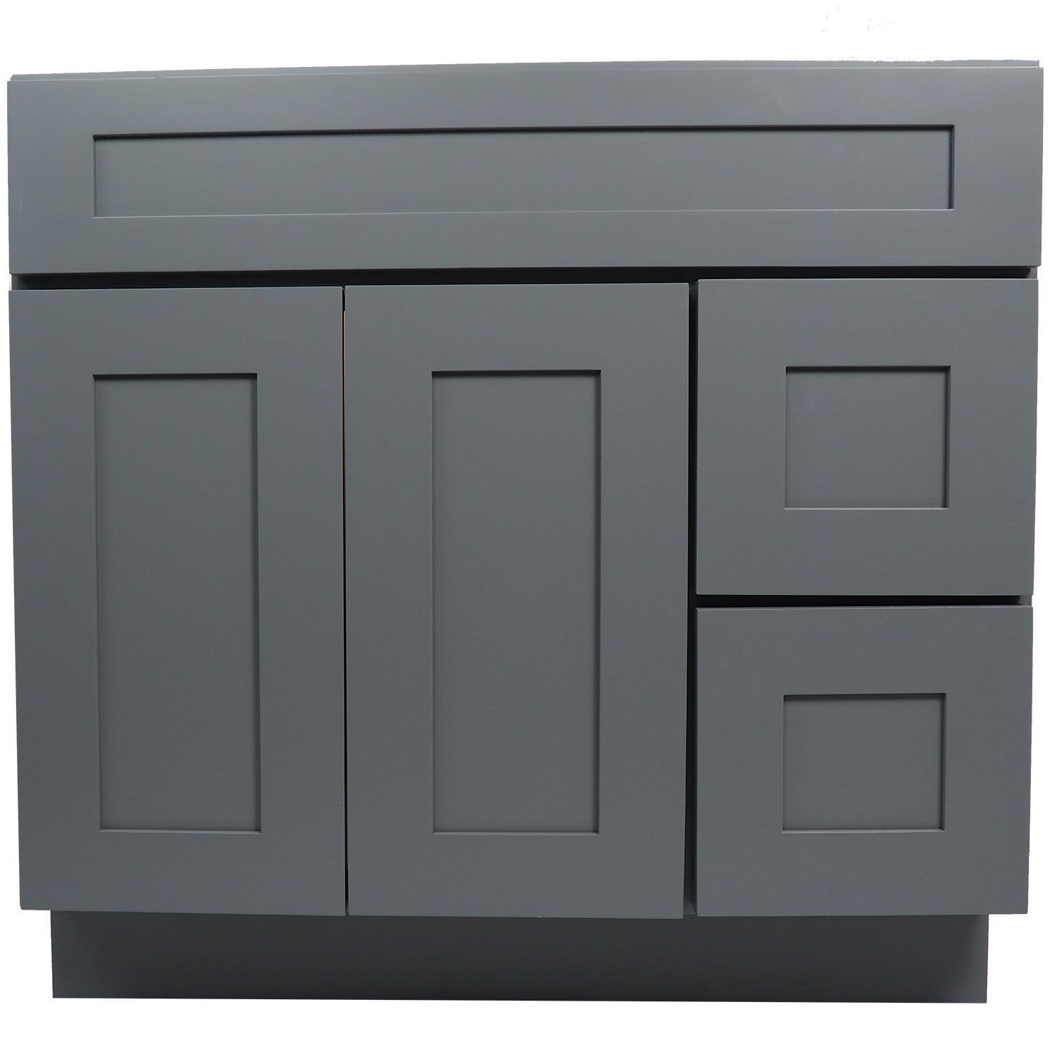 white shaker bathroom vanity. 36 Inch Bathroom Vanity Single Sink Cabinet In Shaker Gray With Soft Close Drawers \u0026 Doors 36\ White