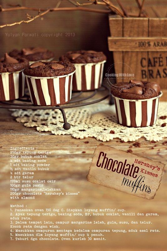 Resep Kue Mangkok Tepung Terigu : resep, mangkok, tepung, terigu, Hershey's, Kisses, Chocolate, Muffins, Mangkok,, Cokelat,, Memanggang