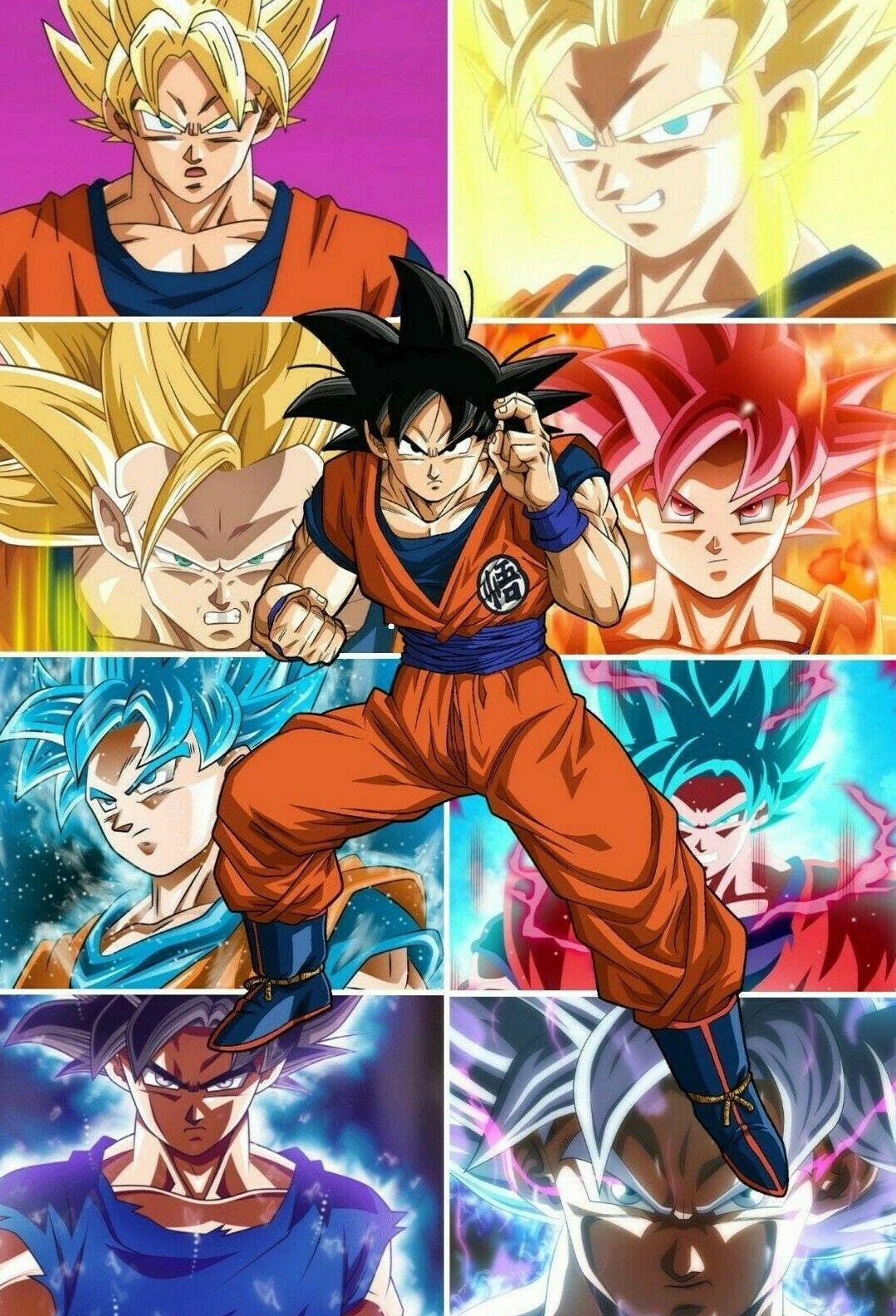 Dragon Ball Z Super Poster Goku All Tranformations Ultra Instinct 11x17 13x19 6 99 In 2021 Anime Dragon Ball Super Dragon Ball Super Goku Dragon Ball Goku