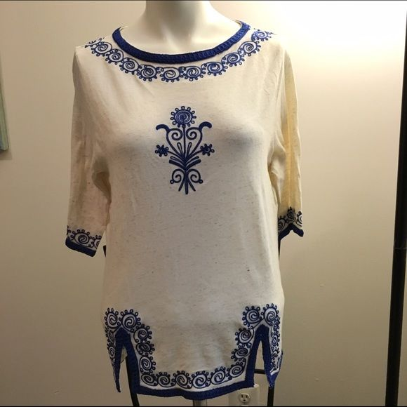 Lucky brand embroidered top Very soft and comfortable with no rips or stains Lucky Brand Tops Tunics