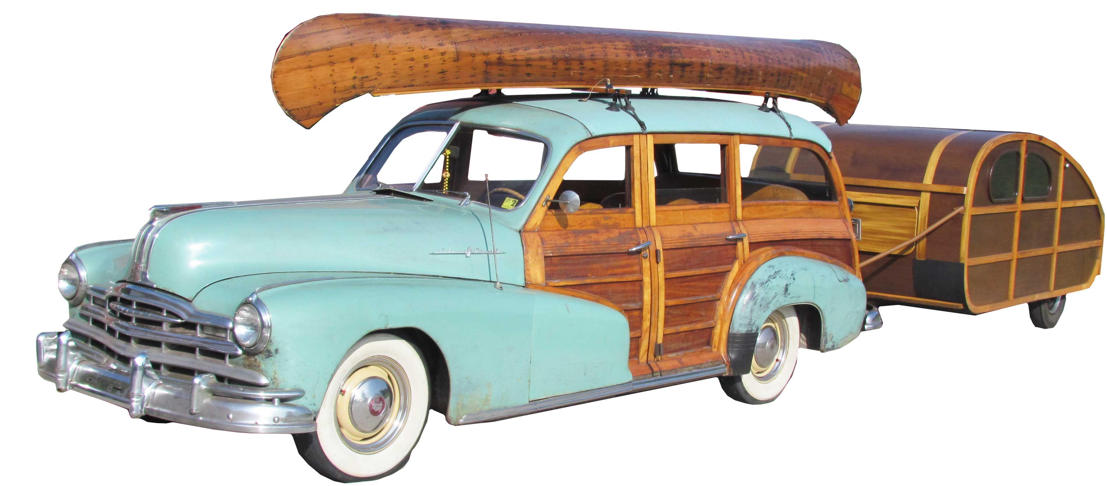"A 1948 Pontiac ""Woody"" station wagon, 8cylinder, 4speed"