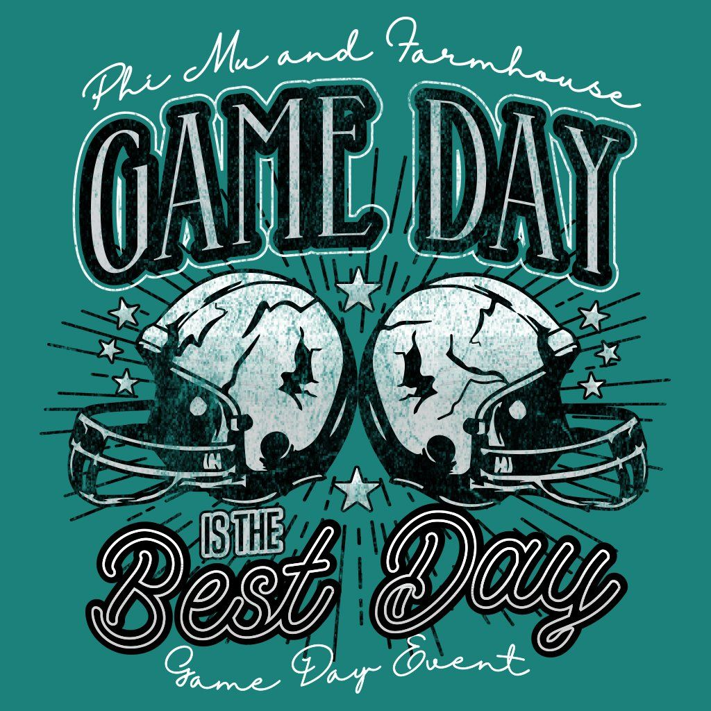 Phi Mu and Farmhouse Game Day Football Design Football