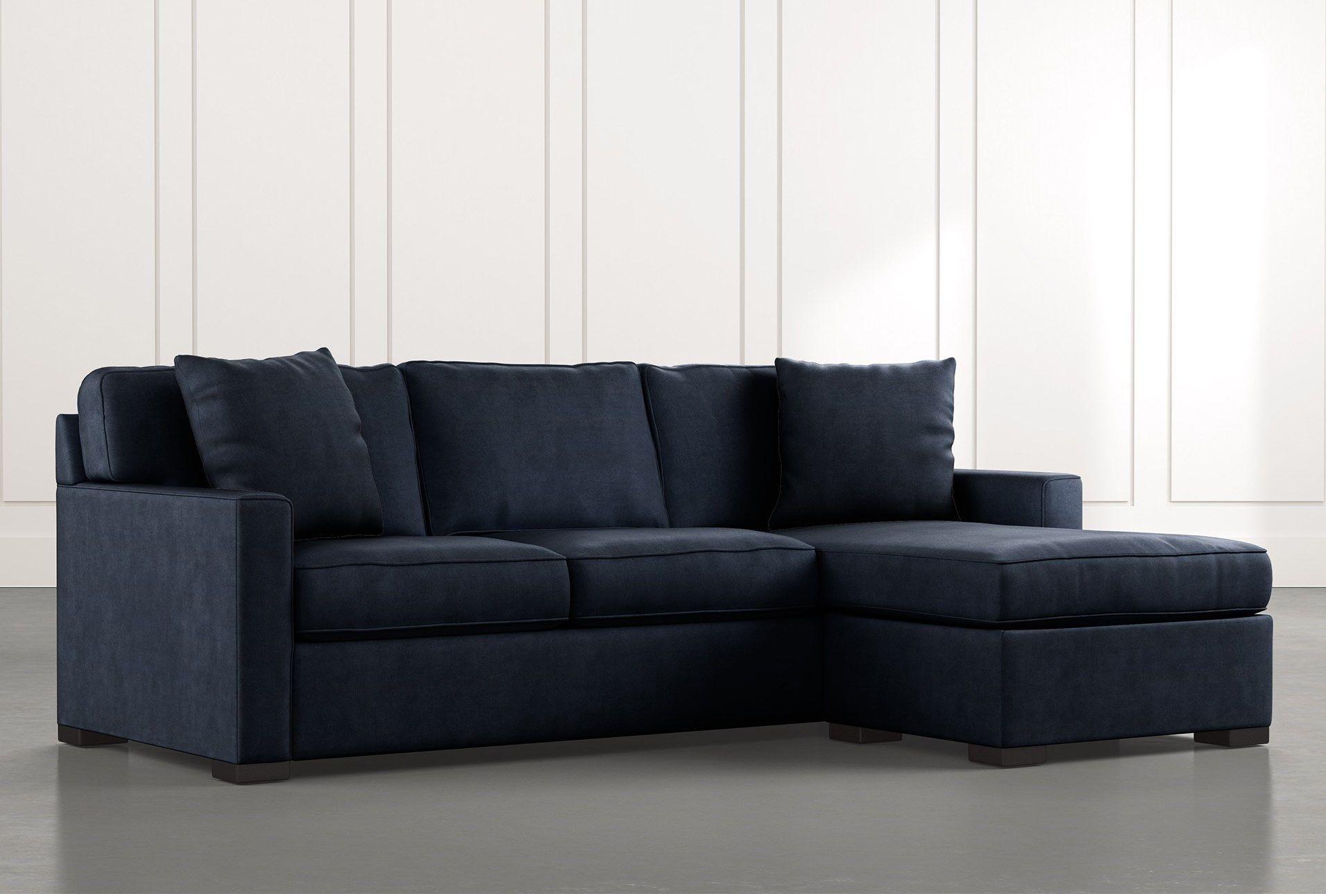 Taren Ii Navy Blue Reversible Sofa Chaise Sleeper W Storage Ottoman In 2020 Chaise Sofa Storage Ottoman Sectional Sofa