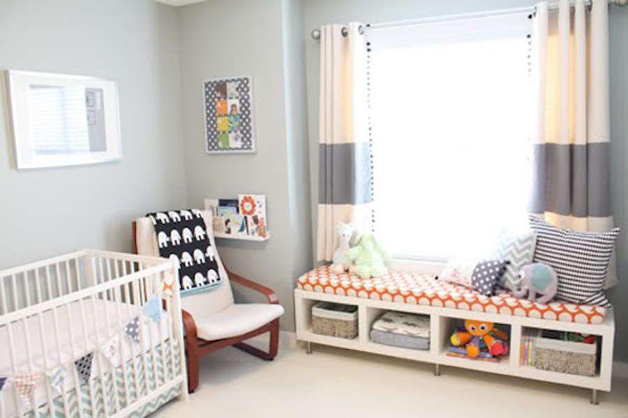 Banco con estanteria kallax buscar con google for Objetos decoracion habitacion bebe