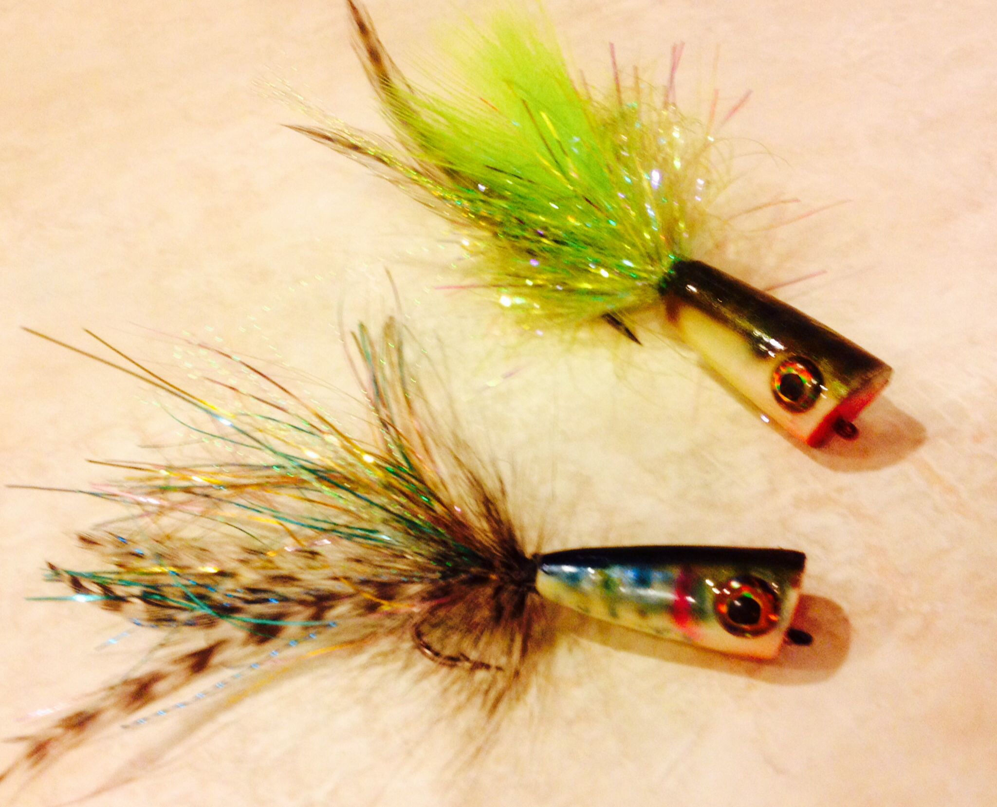 My homemade bass poppers fishing pinterest homemade for Fishing poppers for bass