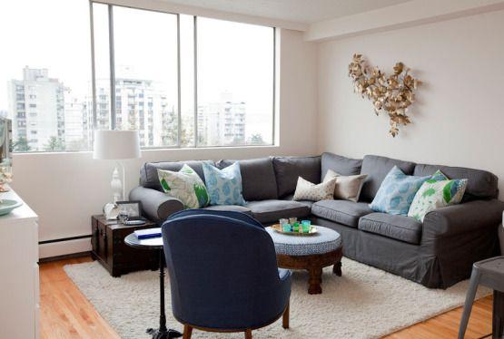 42 m² con mucho estilo en West End, Vancouver Small living rooms