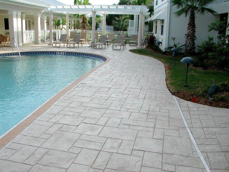 Stamped Concrete Pool Deck Stamped Concrete Patio Concrete Pool