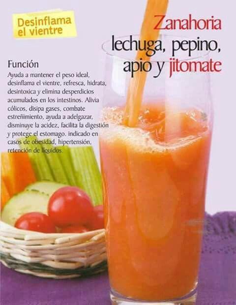 Licuado de pepino y tomate para adelgazar