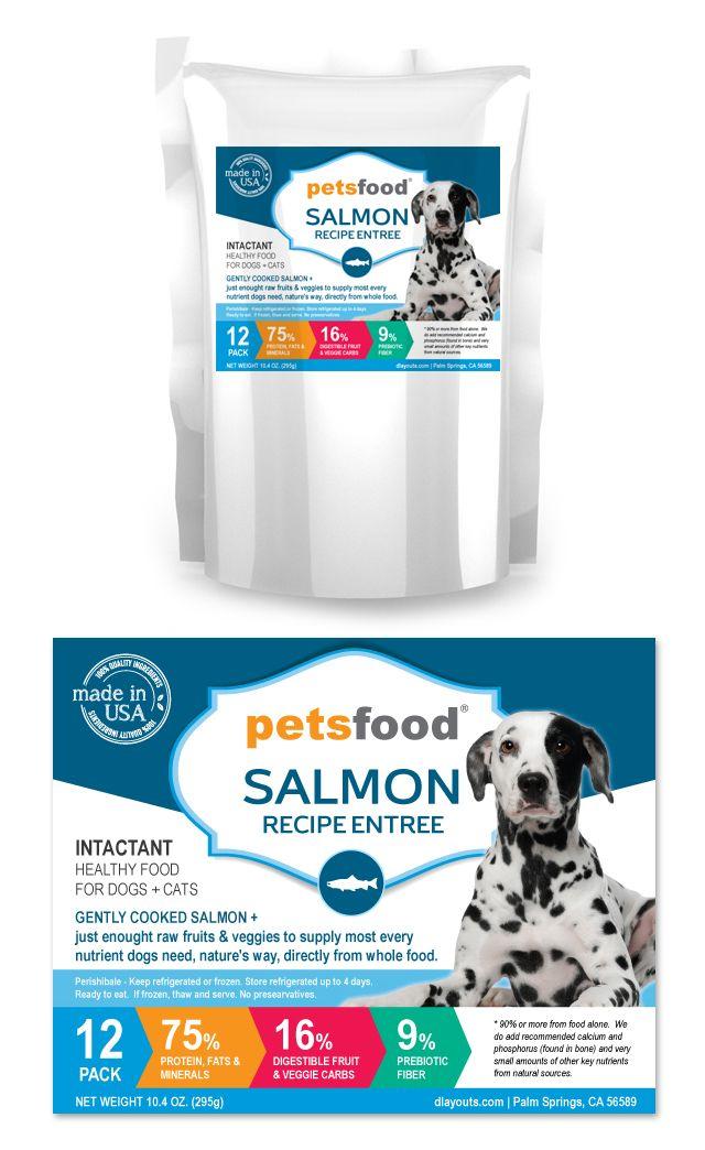 Fresh Salmon Dog Food Label Template HttpWwwDlayoutsCom