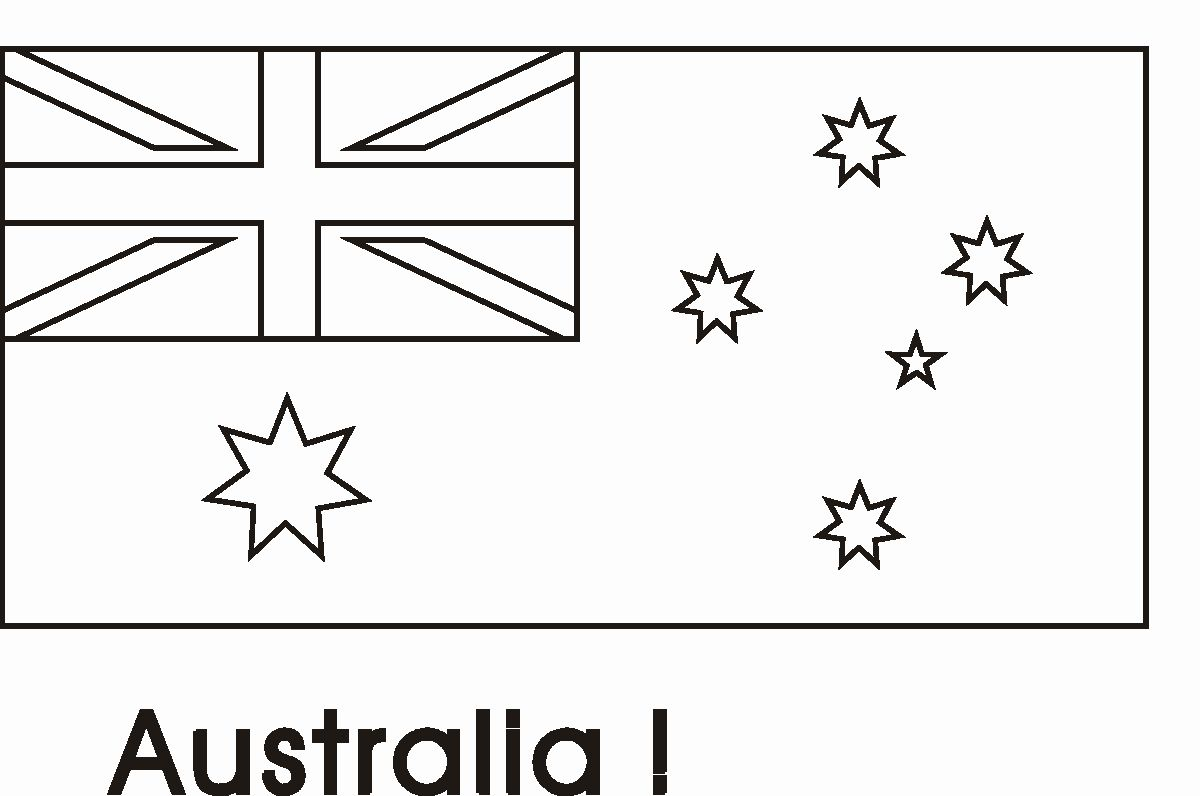 Australian Flag Coloring Page Inspirational Australian Flag