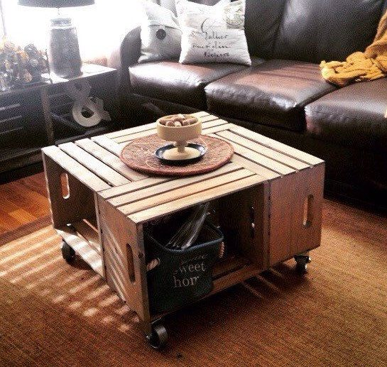 Love The Wood Wine Crate Coffee Table But Needing It A Little Higher Up