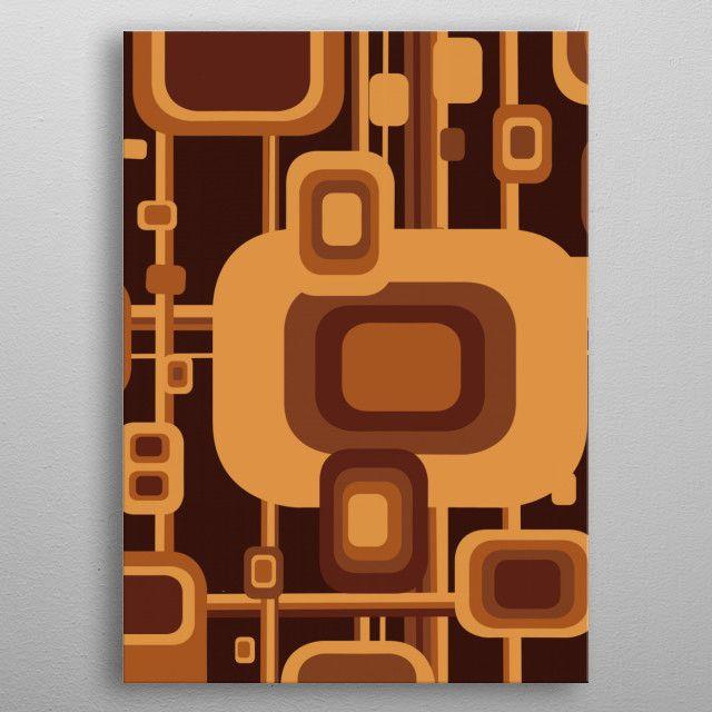 retro pattern by Bekim Art | metal posters - Displate | Displate thumbnail