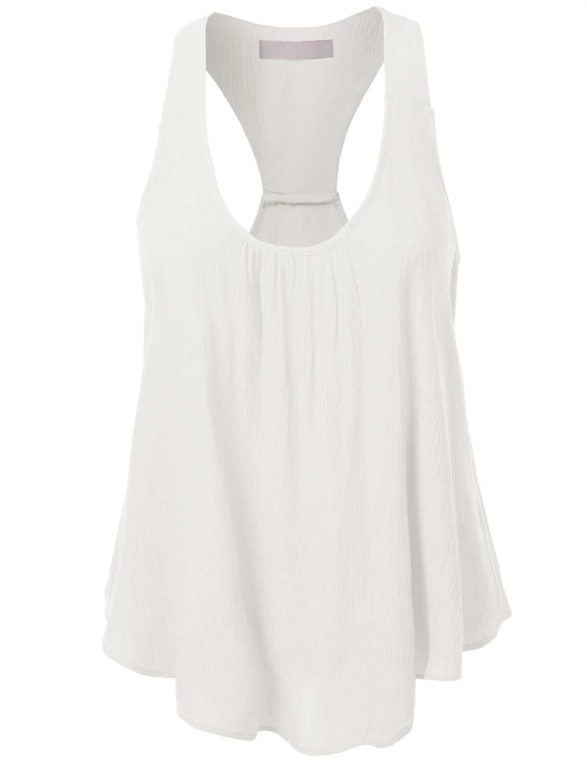 d8c5d4574e7501 This flowy solid bohemian racerback tank top is a essential for this  season! It s perfect