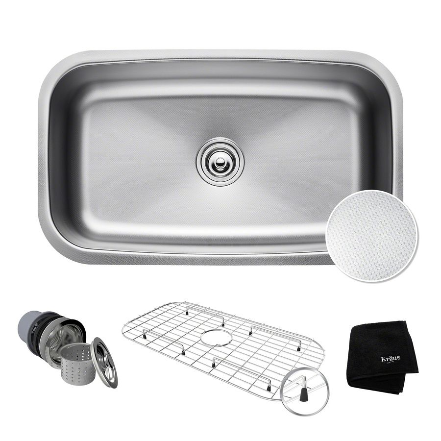 Kraus Outlast Microshield 18.38-In X 31.5-In Single-Basin Stainless ...