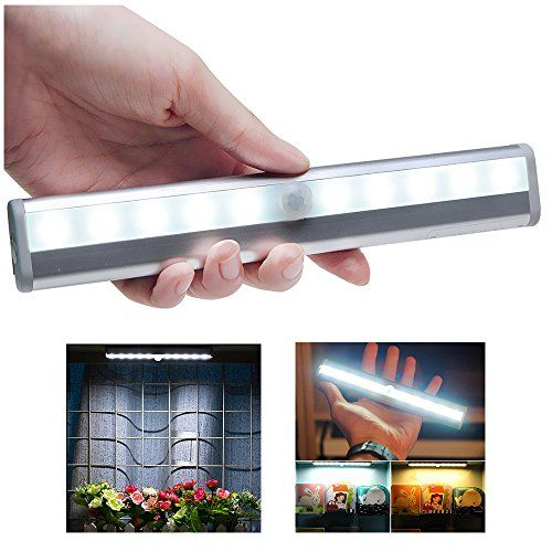 Superieur Naughtygifts Motion Sensing Closet Light DIY Stickon Anywhere Portable  10LED Wireless Magnetic Attach Sensor Night Light