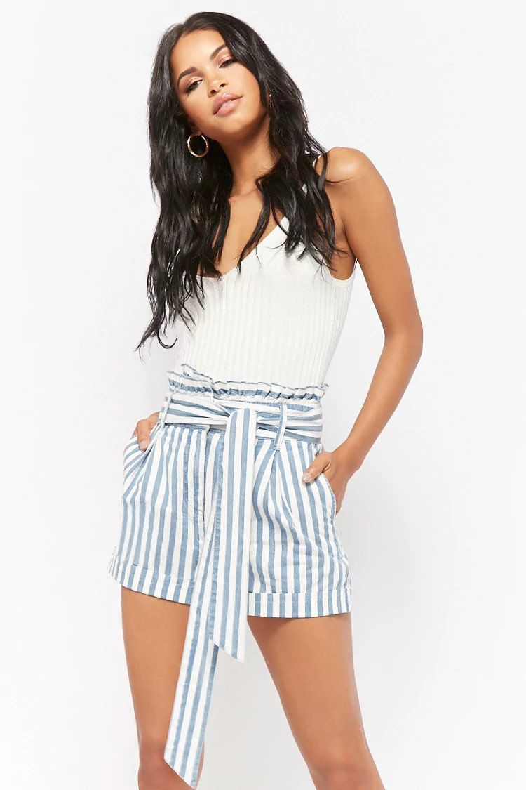 b31234e93c Striped Paperbag Shorts | Fashion / Trends | Boho shorts outfit ...