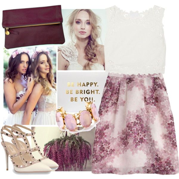 guest at a summer wedding by meforonce on Polyvore featuring moda, Zimmermann, J.Crew, Valentino, Clare V. and By Emily