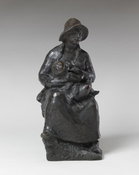 Pierre-Auguste Renoir, Richard Guino - Mother and Child (Mère et enfant)