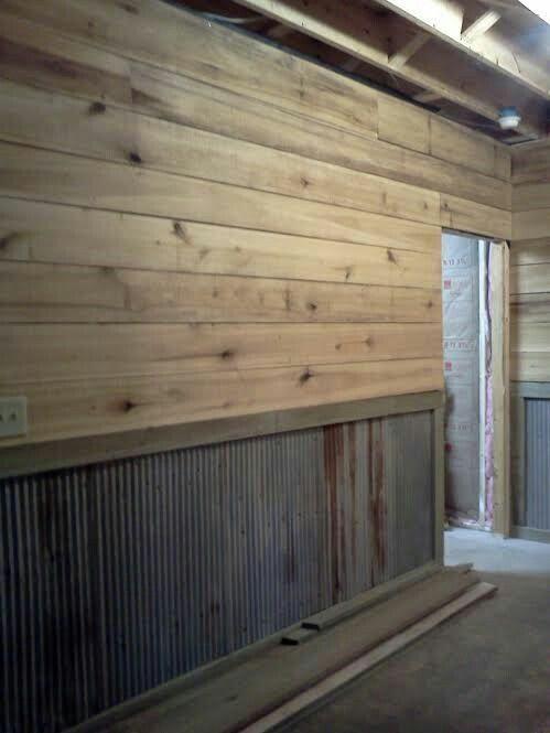 Shiplap Garage Interior Wall Design Garage Interior