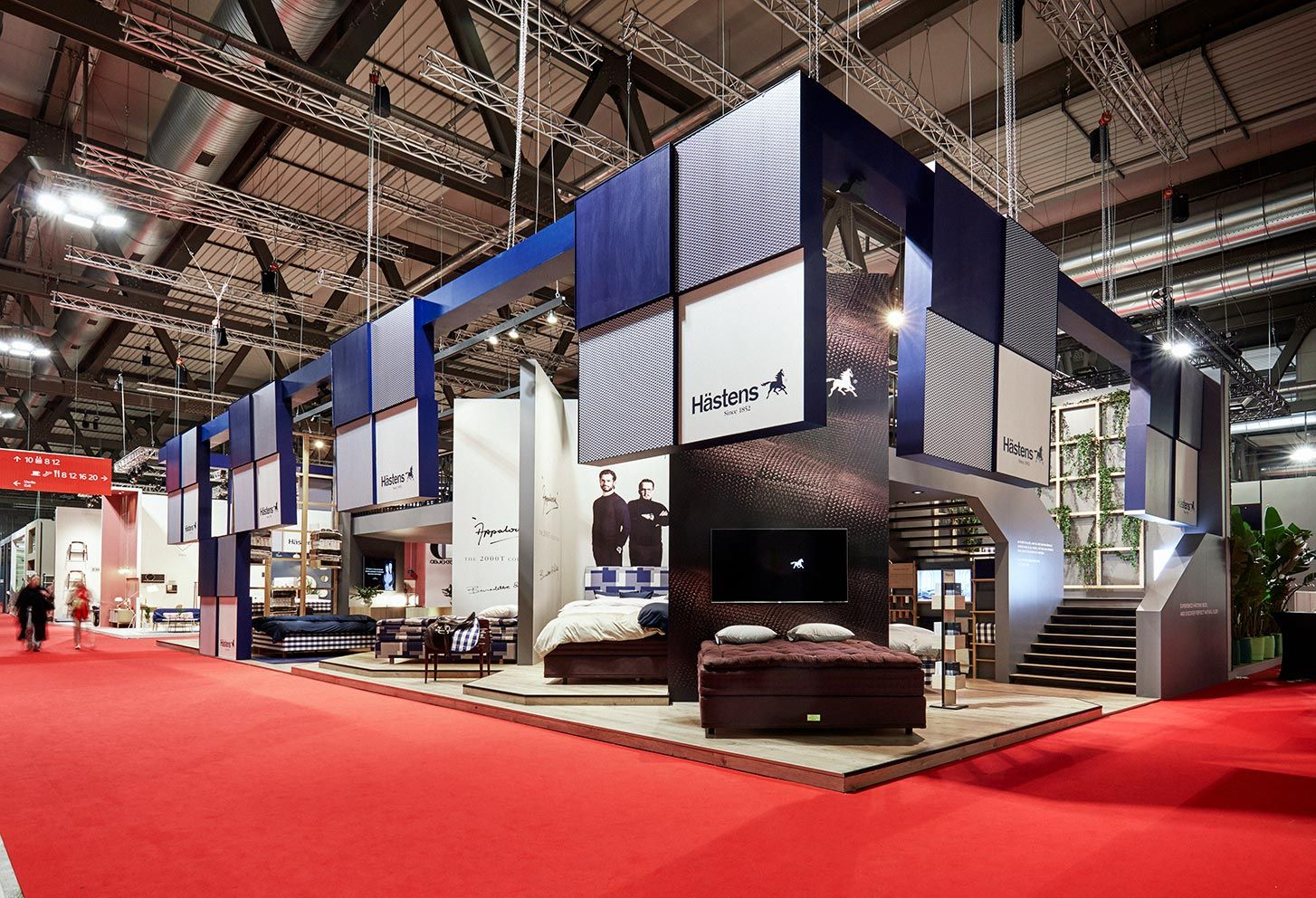 Hästens Köln an impressive two exhibition stand for hästens at salone