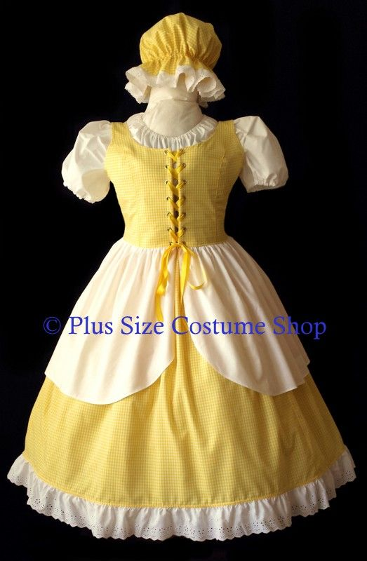 handmade plus size goldilocks halloween costume little miss muffet gown dress - Goldilocks Halloween Costumes