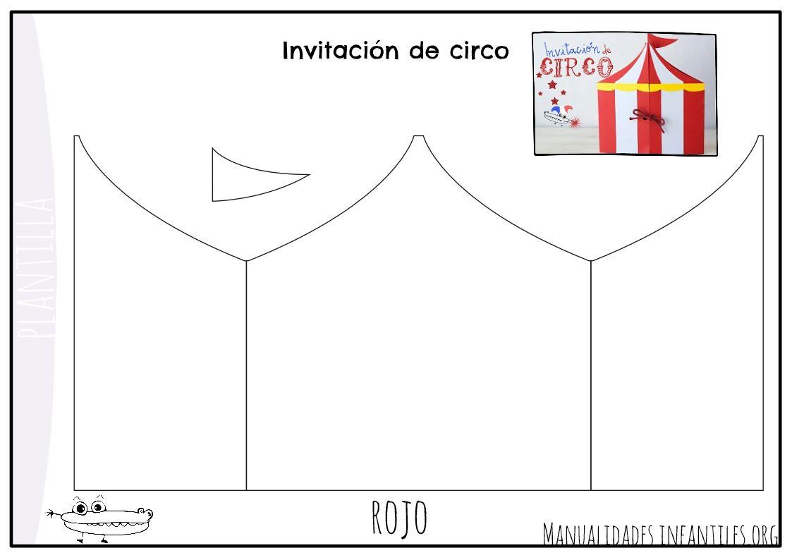 cc0e997eafe3c Plantilla invitacion circo Invitaciones De Circo