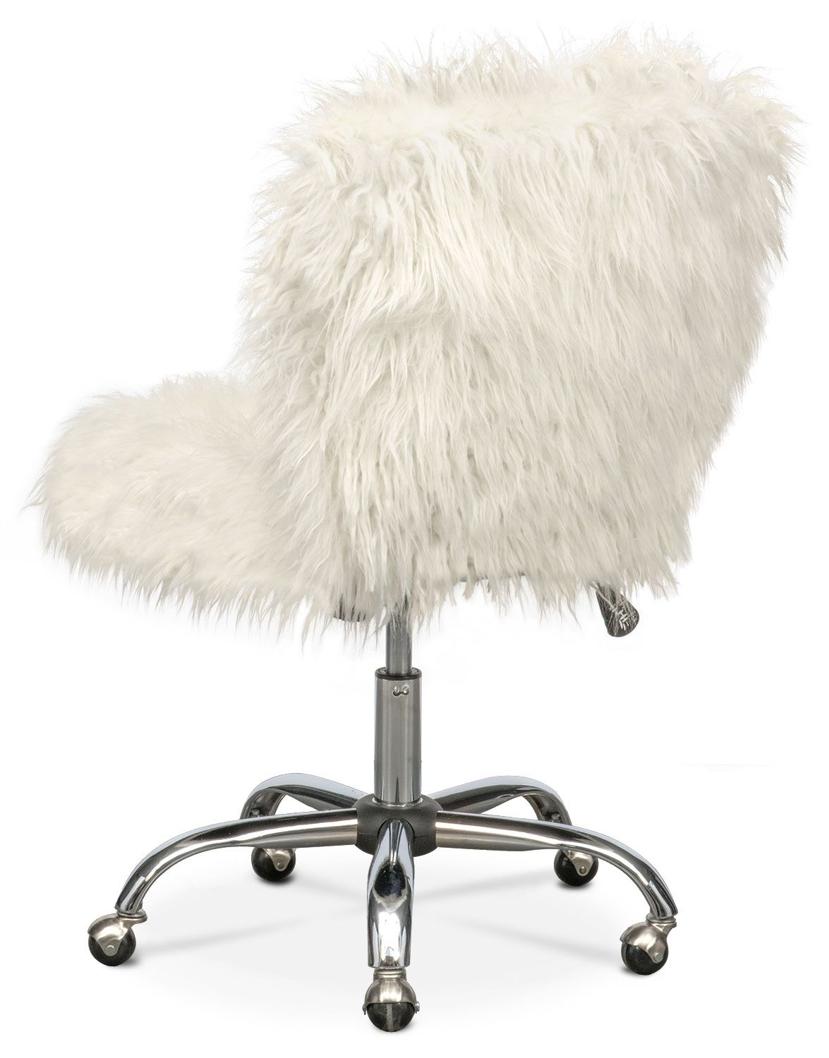 Oh So Shaggy Function Meets Fashion With The Frenzy Office Chair Featuring Gorgeous Shaggy Faux Fur With A Super Desk Chair Office Chair White Office Chair