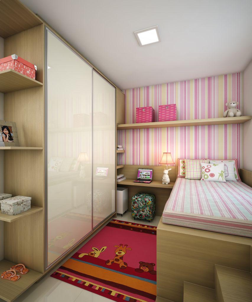 Dormitorio De Solteiro Decora O Pinterest Dormit Rio  ~ Quarto Pequeno Feminino Adolescente