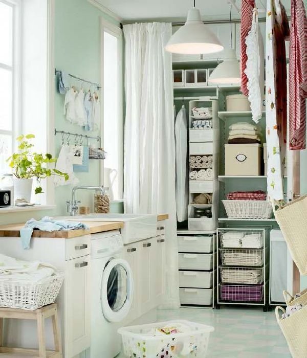 Ikea laundry room - linen closet, tons of well organized storage with  cubbies. Find this Pin and more on SMALL BATHROOM IDEAS ...