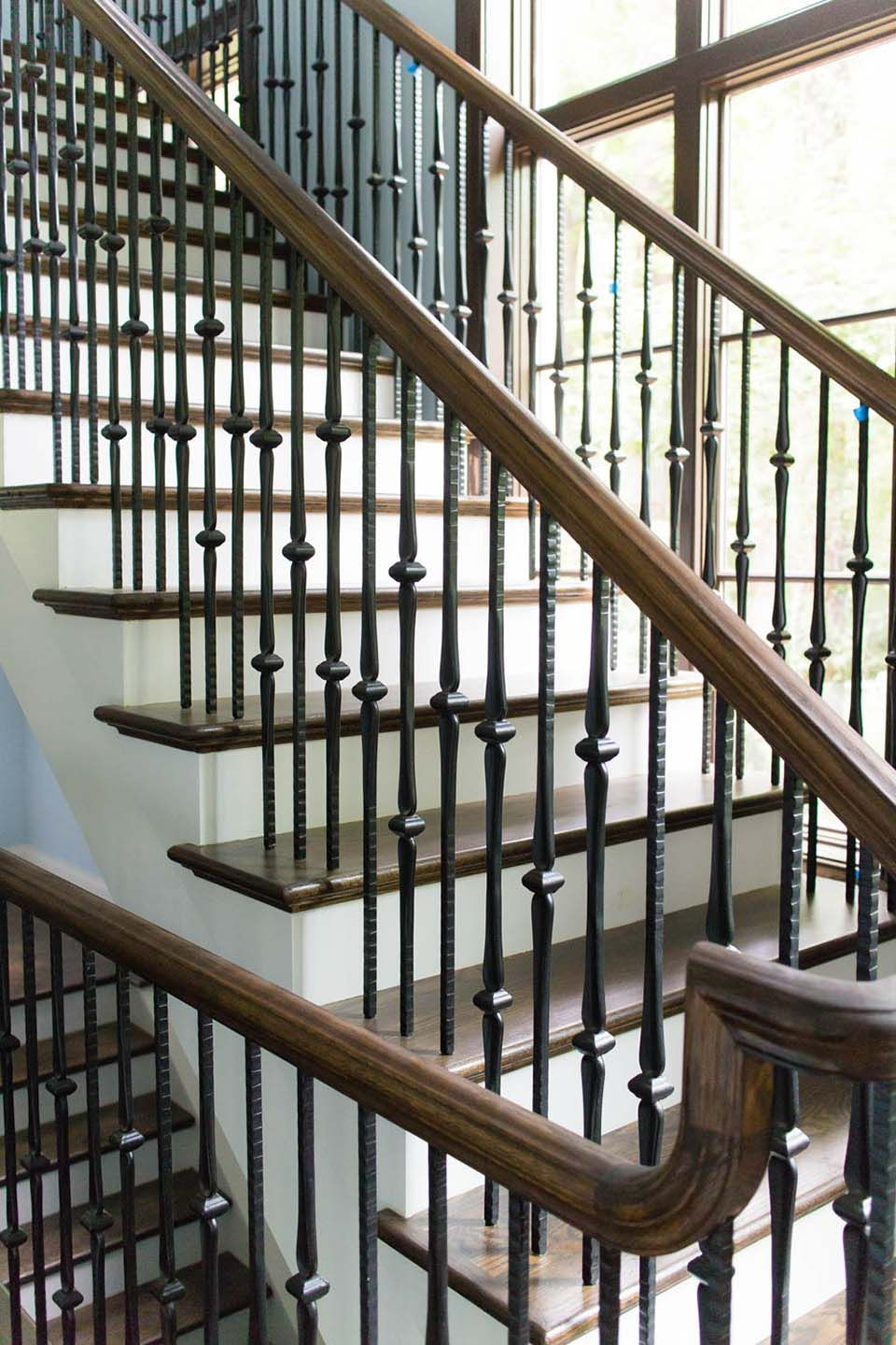 Best Craftsman Staircase Wooden Baluster Railing Systems 400 x 300