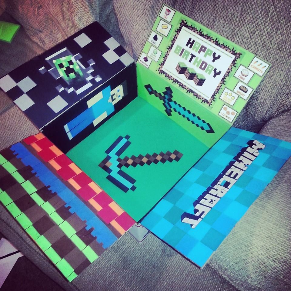 This Is The Minecraft Care Package I Made For My Husbands Birthday While He Was Deployed Aundrea