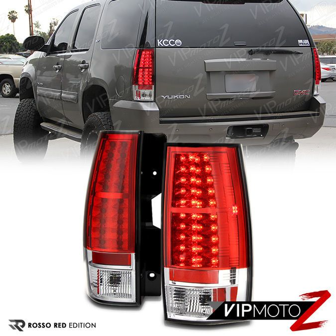 2007 2017 Chevy Suburban Tahoe Gmc Yukon Xl Red Led Brake Tail Lights Lamps Set Vipmotoz