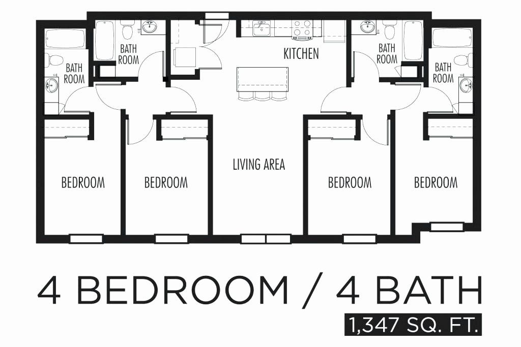 16 Simple House Plans 4 Bedrooms in 2020 | Bedroom house ...