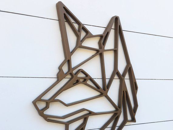 Geometric Dog wall hanging | German Shepard wall art | Dog decoration | Geometric pet drawing #germanshepards