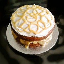 Lemon Curd and Coconut Cream Cake