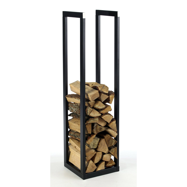 Rangement Pour Le Bois range-bûches noir dixneuf klub l.30 x h.121 cm | rangement