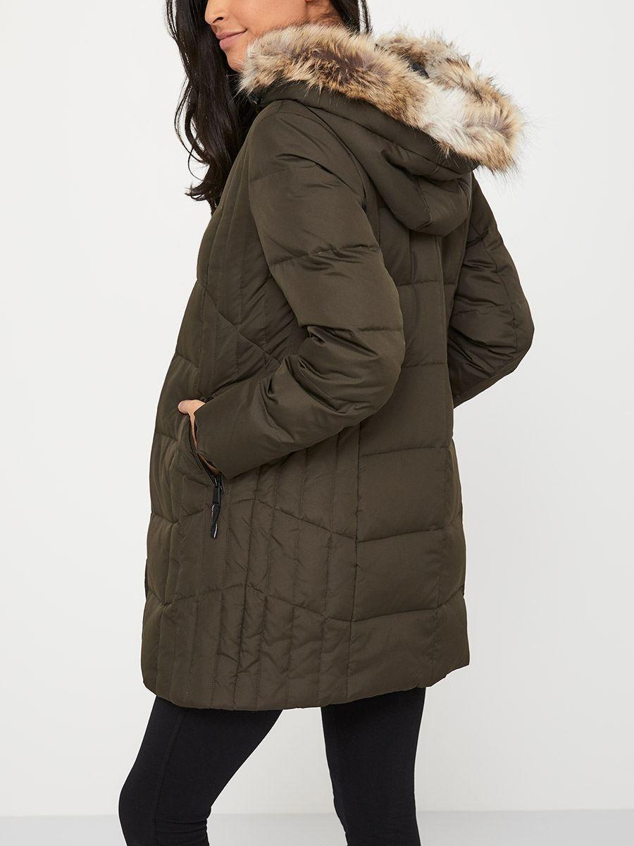 Long Puffer Maternity Coat   Maternity winter coat ...