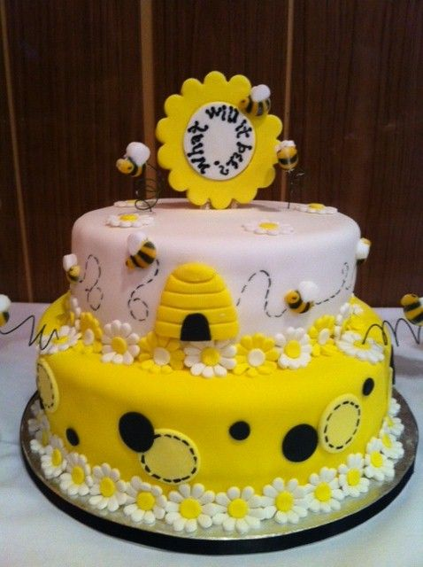 Bumble Bee Baby Shower Cake Design Bee Themed Party In