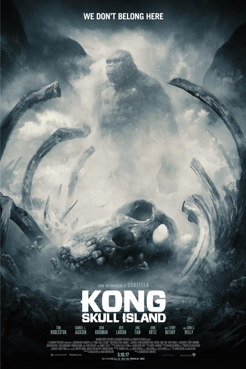 Kong Skull Island Gets One Awesome Final Trailer And Some Beautiful Poster Art Kong Skull Island Movies Skull Island Movie Kong Skull Island Poster