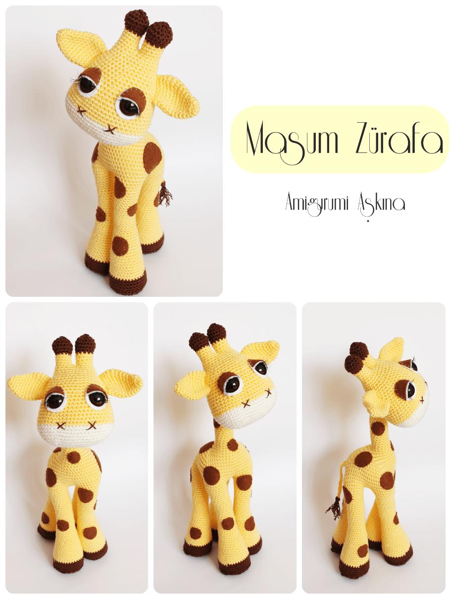 Amigurumi amor: Amigurumi jirafa inocente y elegante   Amigurumis ...