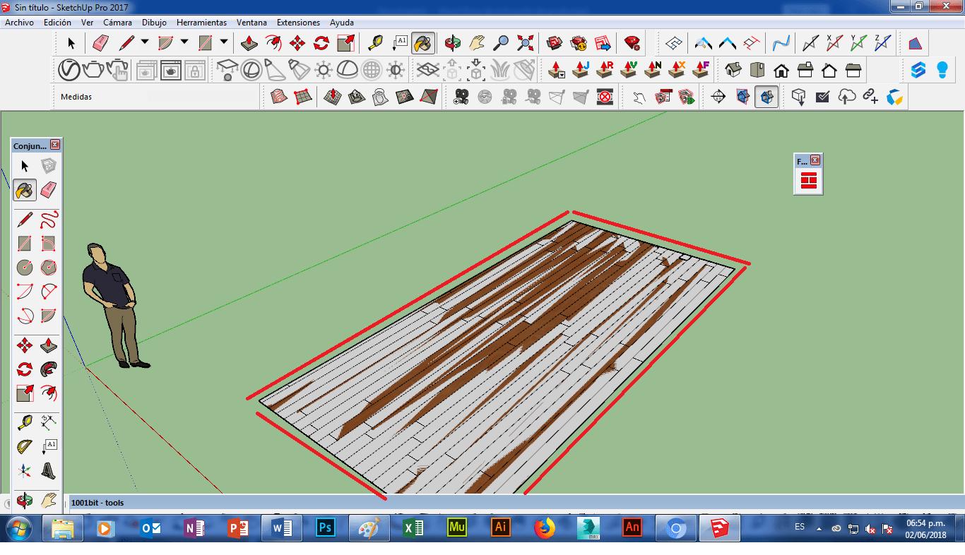 problema de floor generator reparar plugin sketchup
